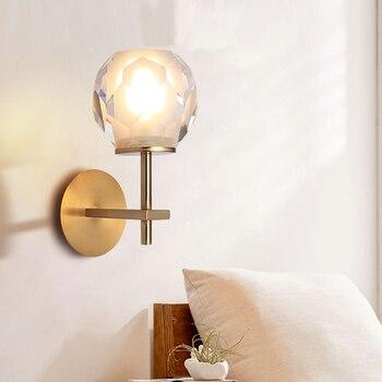 Moderne Kupfer Wand Lampen Villa Hotel Kristall Wandleuchte ...