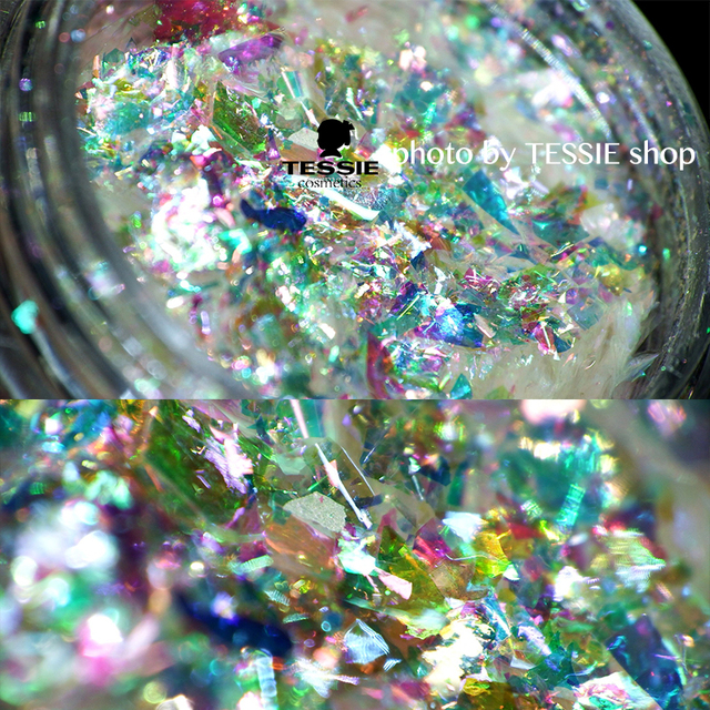 Wholesale Multi Flakes Chrome Nail Galaxy Holo Rainbow Unicorn Skin Magical Shifting Flakies