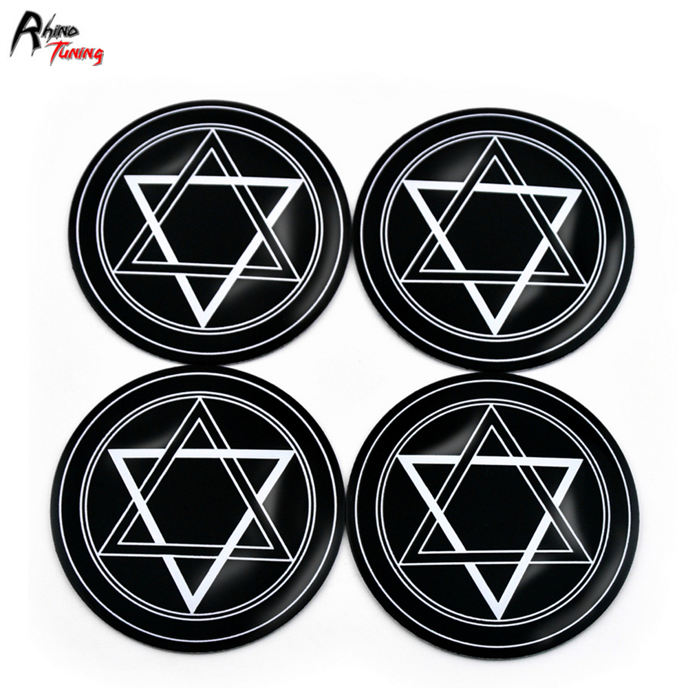 o rhino tuning 4pc 56mm hexagram styling aluminum car emblem wheel center hub cap sticker 006 in wheel center caps from automobiles motorcycles [ 1000 x 1000 Pixel ]