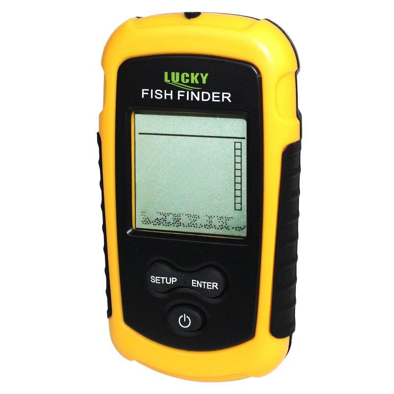 Livraison Gratuite! Détecteur de poisson Portable Sonar de profondeur sondeur alarme étanche sondeur 0.7-100 M 328 pieds sonar de poisson sonar FF1108-1