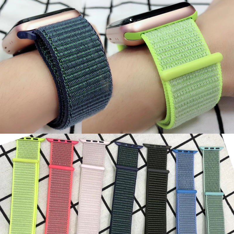 NEW Latest color Lightweight Breathable Nylon Sport Loop Band for Apple Watch Series 3 2 1 42MM 38MM for iWatch 123 watchband litanglee car accelerator pedal pad cover racing sport for mini cooper clubman r55 f54 2007 onwork at foot throttle pedal cover