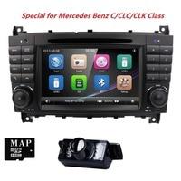AutoRadio 2 din Car DVD Player For Mercedes Benz C Classs CLC W203 CLK Class W209 2004 2005 2006 2007 2008 2009 2010 2011 BT 3G