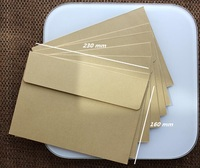 10 Pcs Classic Brown Kraft Envelopes For Postcard Or Gift Wrapping 23 X 16cm