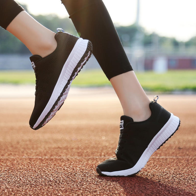 Casual Sneakers Women Trainers Platform Shoes Pink White Sneakers Basket Femme Summer Air Mesh Shoes Outdoor Tenis Zapatos Mujer royyna new cute design women sneakers shoes flower femme casual shoes mesh lady flats outdoor chaussure femme zapatos mujer