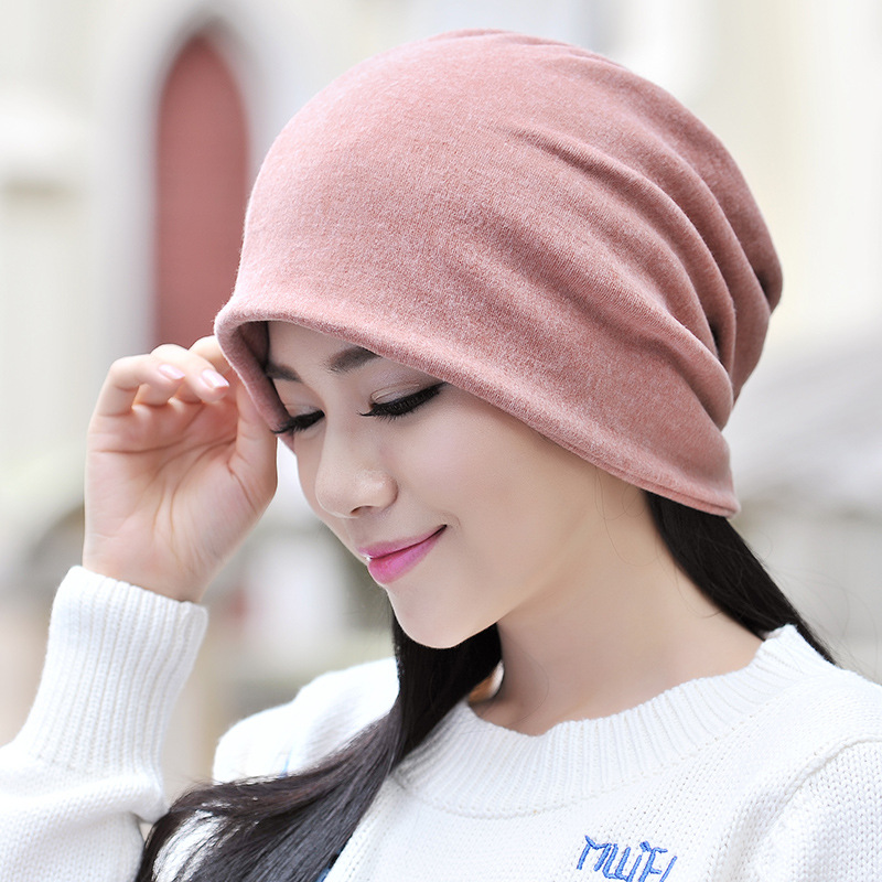 Male Female Ponytail Beanie Turban Caps Pregnant Women Cap Casual Solid Skullies Men Women Hats Hip Hop Hat Warm Cap Neck Scarf in Men 39 s Skullies amp Beanies from Apparel Accessories