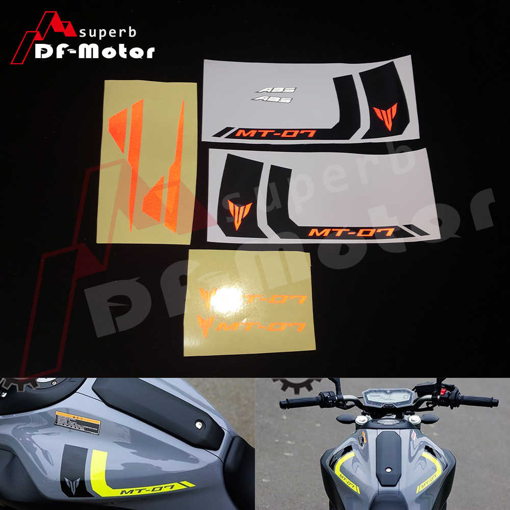 Reflective stickers decals motorcycle fit for yamaha mt 07 mt07 decals stickers diy red white high