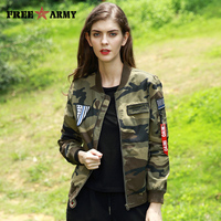 Autumn Pilot Jacket Woman Designer Bomber Jacket Female Military Camouflage Jackets Women Zipper Fashion Coat Jackets For Ladies