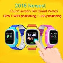 GPS reloj inteligente reloj bebé Q90 con Wifi pantalla táctil de Colores de Llamada SOS Ubicación DeviceTracker de Seguros para Niños Anti-perdido Monitor