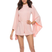 237fa2bbf79 (Ship from US) Feitong 2019 Women Jumpsuit Summer Women Sexy Bodycon Long  Batwing Sleeve Backless Cocktail Party Playsuit Jumpsuit