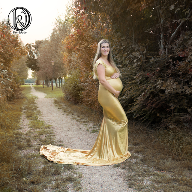 e50268701f733 Don&Judy Trailing Pregnancy Dress Photography Maternity Dresses For Photo  Shoot Shooting Dress Maxi Vestidos For Pregnant Women