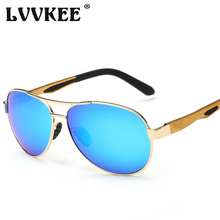 LVVKEE Brand Design aluminum-magnesium car Driving Sunglasses men's metal frame Polarized Sun Glasses For Male Oculos De Sol