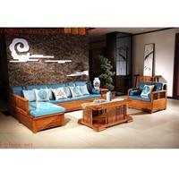 Antique Mahogany Sofa Chair Set Solid Wood Small Rectangle Tea Table Custom Hedgehog Rosewood Living Room Furniture 5 Pcs/Set