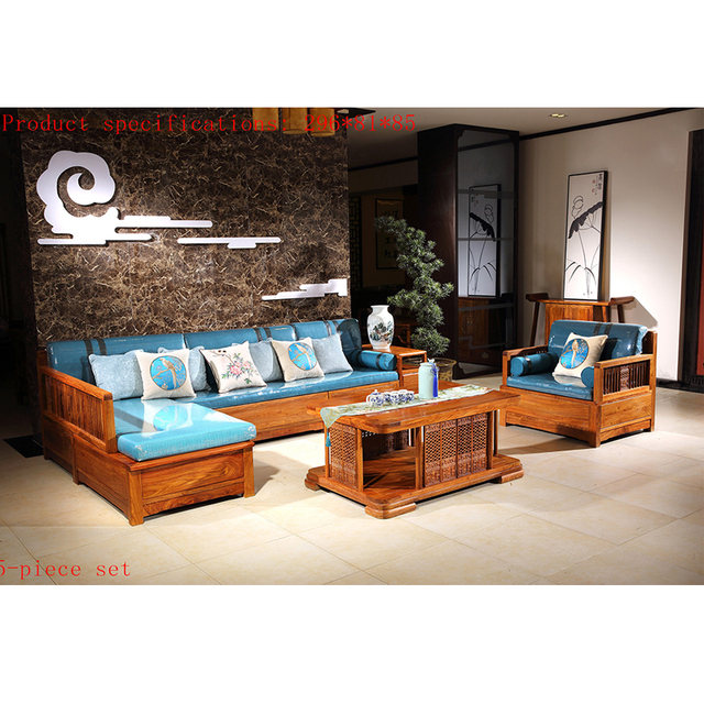 antique mahogany sofa chair set solid wood small rectangle tea table rh aliexpress com