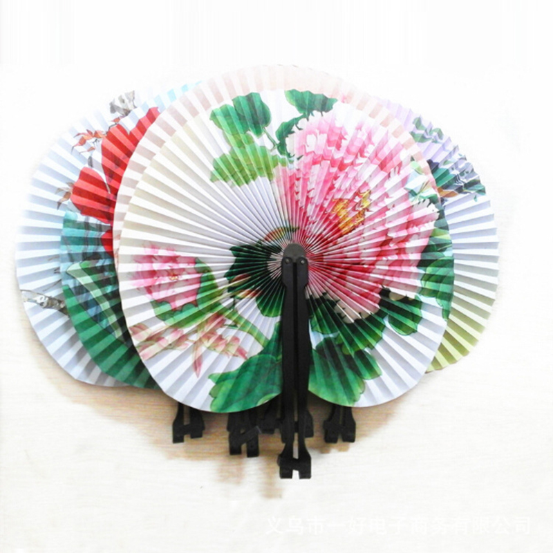 12   Paper Mini Chinese Oriental Folding Fans   Great Boys Girls Party Loot Bag Fillers|Decorative Fans| |  - title=