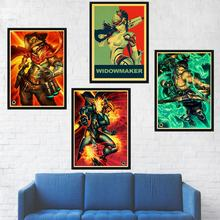 Overwatch Game kraft paper Art Print Painting Poster Wall Pictures For Living Room Home Decorative Decor No Frame(China)
