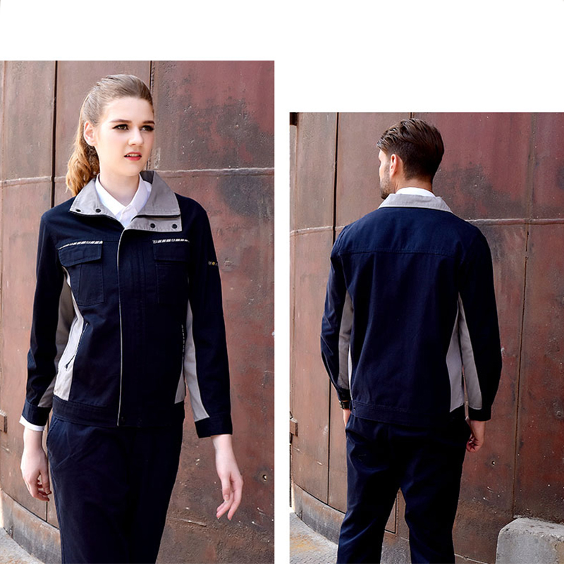 Image 3 - Men Women Work Clothing Set Long sleeve Jacket and Plants Work Overalls Working Uniforms For Factory Welding Machine Repair-in Safety Clothing from Security & Protection