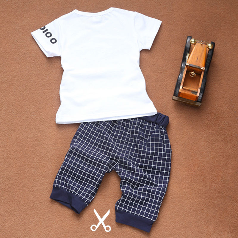 Star Printed Baby Boy Clothes Set