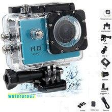 """Mini câmera a prova d água full hd 1080p, câmera esportiva de ação para gopro style go pro 2 """"gravador de câmera dv resistente"""