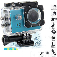 """Water proof Mini Camera Full HD 1080P Action Sport Camcorder Outdoor For Gopro Style Go Pro 2"""" Screen Cam Recorder DV resistant"""
