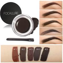Focallure 5Colors Eyebrow Pomade Gel Waterproof Durable Eyebrow Makeup Cream Eye Brow Tint Eyebrow Pomade Enhanacer With Brush стоимость