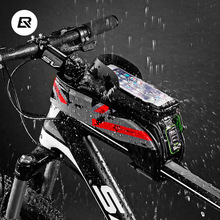 ROCKBROS MTB Road Bicycle 5.8/6.0 Bike Bags Rainproof Touch Screen Cycling Top Front Tube Frame Phone Case Accessories