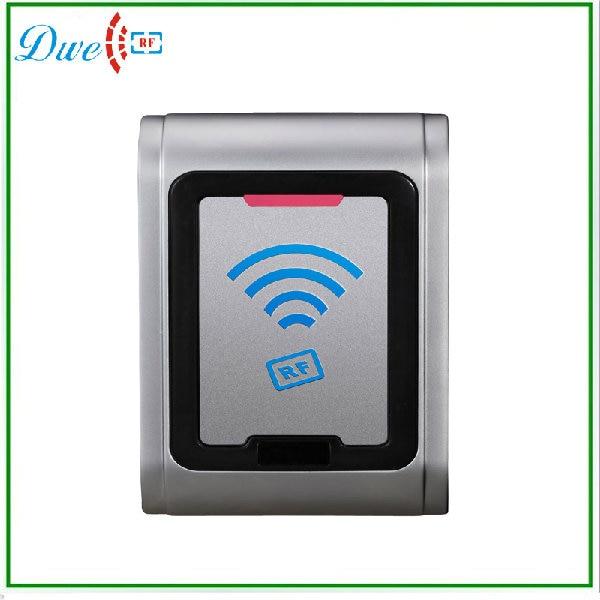 DWE CC RF boîtier étanche en métal EM-ID extérieur wiegand 26 rfid lecteur support TK4100 carte 002N-26