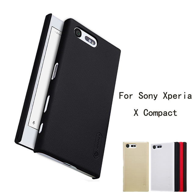 For Sony Xperia X Compact Case NILLKIN Super Frosted Shield Case For Sony X Compact Case Back Cover Case With 1 Screen Protector