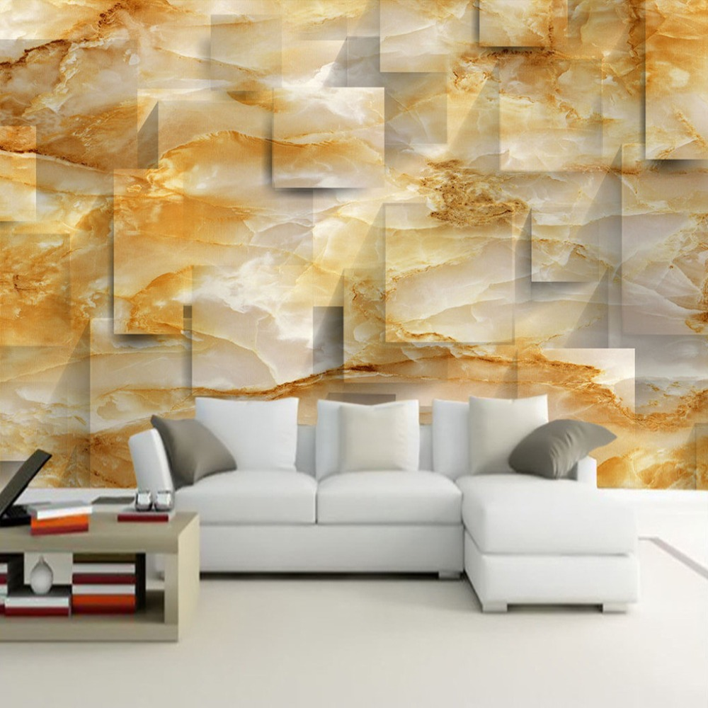Custom 3D Mural Wallpaper Marble Texture 3D Stereoscopic Space TV Background Modern Wallpaper For Living Room 3D Photo Wallpaper custom any size mural wallpaper 3d stereoscopic universe star living room tv bar ktv backdrop bedroom 3d photo wallpaper roll
