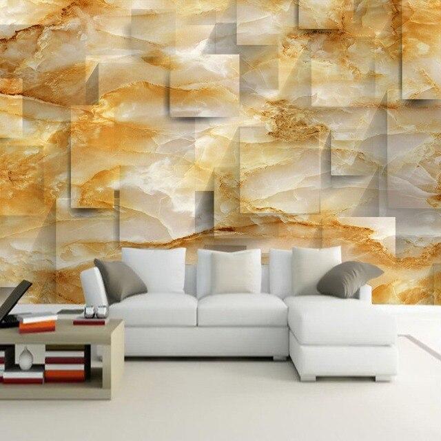 Custom 3D Mural Wallpaper Marble Texture 3D Stereoscopic Space TV ...