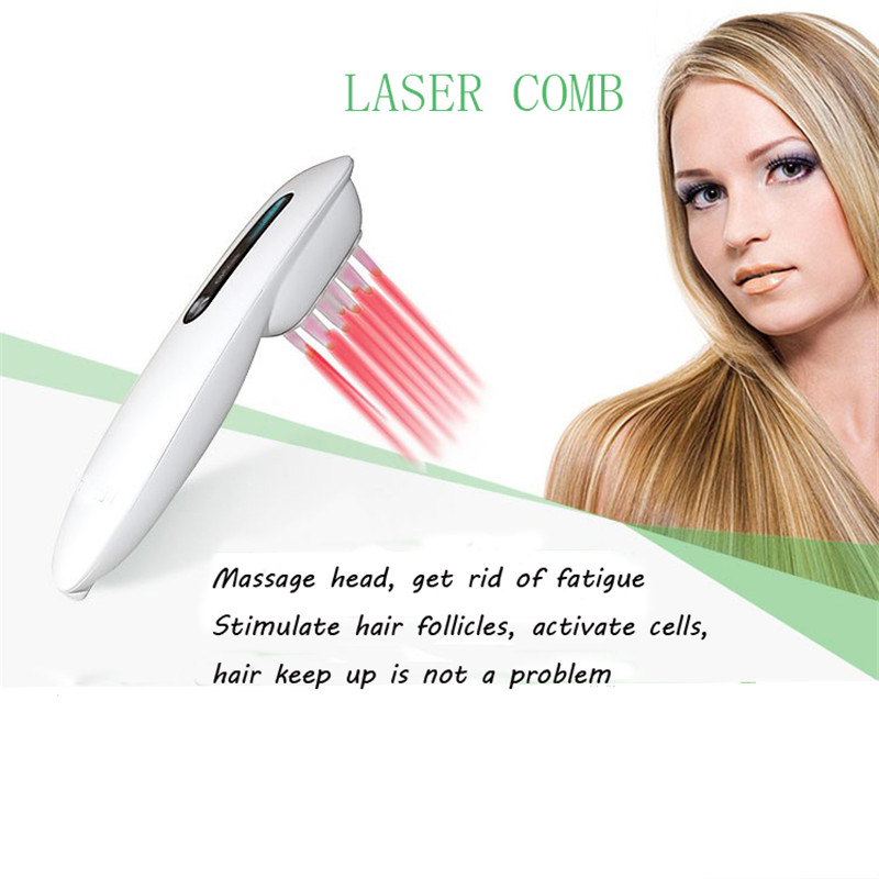 ATANG Laser Hair Growth Comb Hair Brush Chanrgeable Medical Stop Regrow Treatment Hair Regrowth Hair Laser Massage Comb+Gift green sandalwood combed wooden head neck mammary gland meridian lymphatic massage comb wide teeth comb