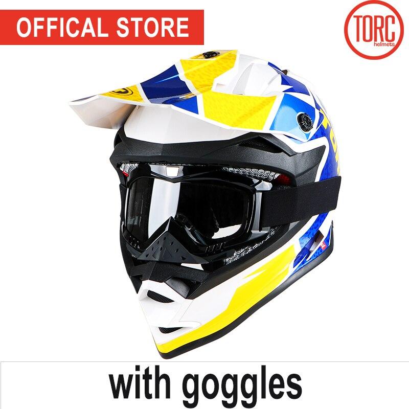 TORC brand motorcross helmet motorcycle off road helmet goggles motorbike downhill capacete cascos para moto ECE racing helmet