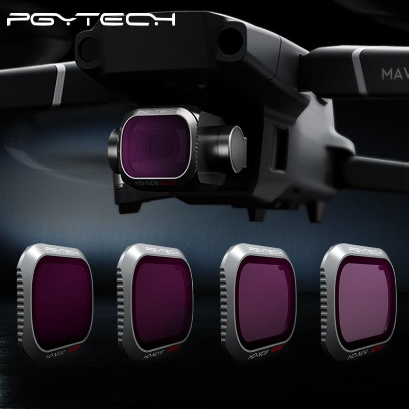 купить PGYTECH DJI Mavic 2 Pro Camera Lens Filter Filters Kit ND8 16 32 128 256 1000 Filter for DJI Mavic 2 drone parts accessories