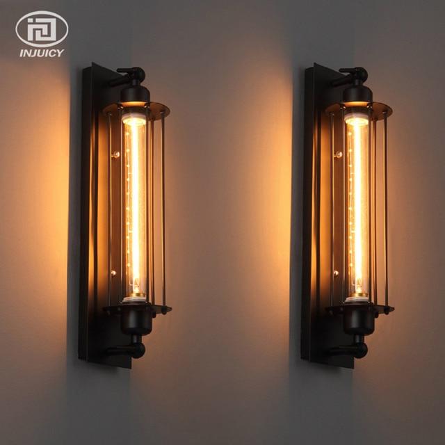 LOFT Vintage Wall Lamp With Edison T300 Halogen Bulb Industrial Rust ...