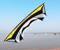 Бесплатная доставка 2,8 м большой в виде длинного прямоугольника трюк линия воздушных змеев открытый power воздушный змей игрушки Воздушные Зм