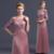 Elegante Barco Pescoço Plus Size Longo Mãe Dos Vestidos de Noiva Com Mangas de Renda 2016 Transporte Rápido