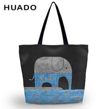 Cute Aminal Soft Foldable Women's Shopping Tote Bag Shoulder Carry Bag Lady Reusable Handbag Pouch