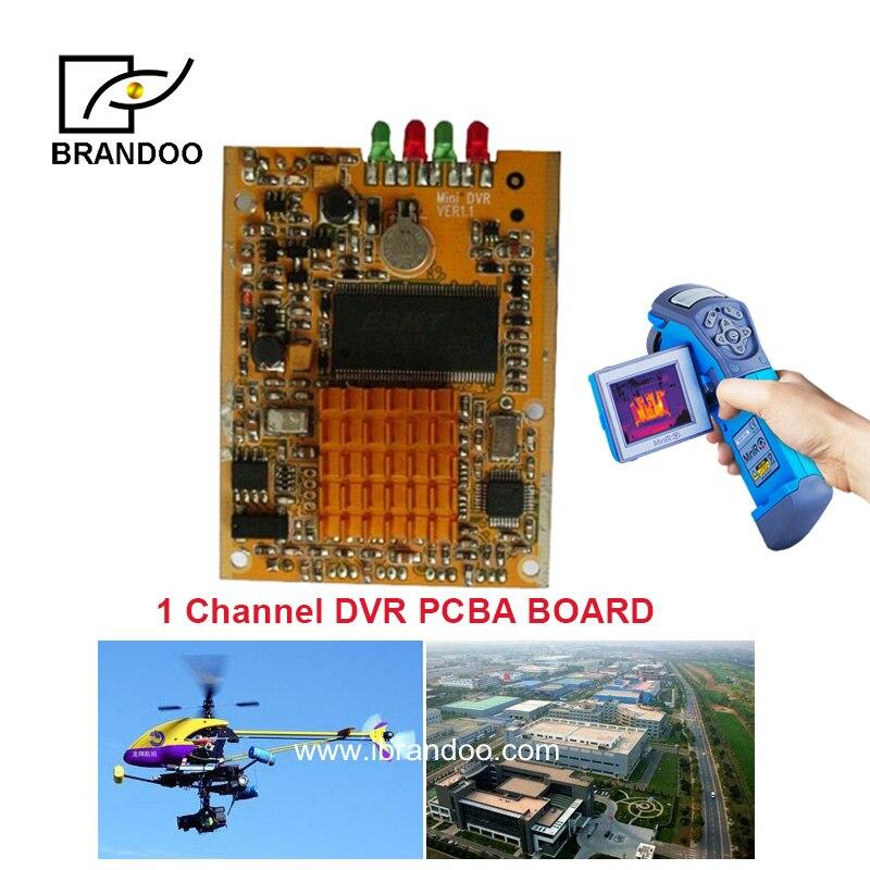 1 canal Mini CCTV DVR module Support carte SD en temps réel HD Mini 1Ch DVR conseil MPEG-4 Compression vidéo