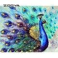 ZOOYA 5D DIY алмазная живопись Алмазная вышивка «Павлин» полный пакет 3D DIY Набор декор из алмазной мозаики Стразы рукоделие RY005
