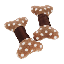 HELLOMOON fleece bone Oxford cloth squeak chew plush toy small dog Teddy  BB sounder molar pet