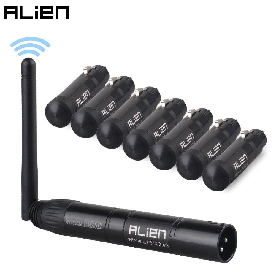 ALIEN 2.4G ISM contrôleur sans fil, DMX 512 Dfi, émetteur de récepteur XLR pour la fête en DJ, scène PAR tête mobile, lumière Laser