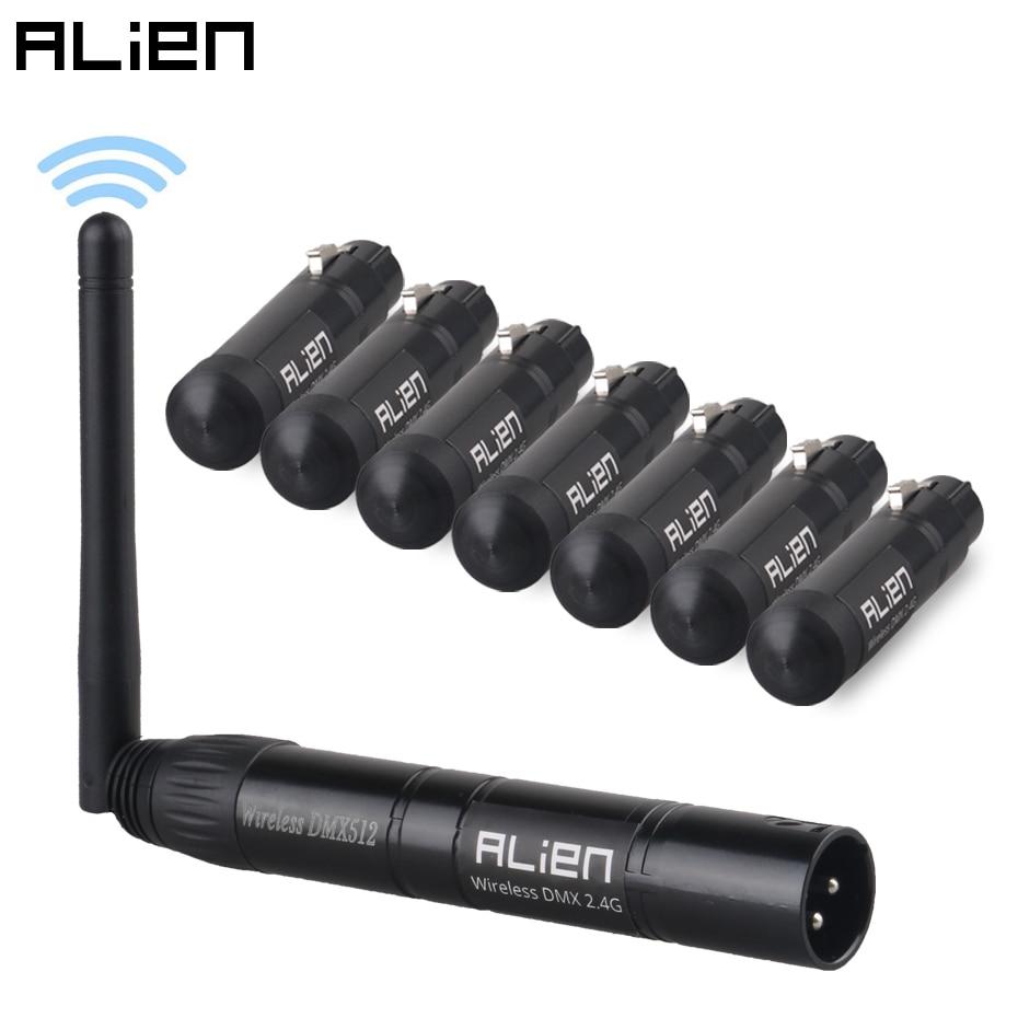 Alien 2.4G Ism Wireless Dmx 512 Controller di Alimentazione Dfi Xlr Trasmettitore Ricevitore per La Discoteca Del Dj Party Bar Stadio Par in Movimento testa di Luce Laser