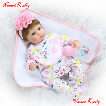 18inch doll reborn baby toys realistic girl doll reborn soft touch magnetic mouth pacifier for children bebe gift bonecas reborn