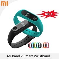 100% Original Xiaomi Mi Band 2 Miband Smart Bracelet Wristband with Smart Heart Rate Pulse Fitness Touchpad OLED Screen In Stock