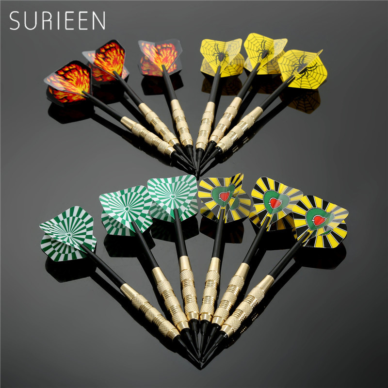 12Pcs/ (4sets) of 18g Darts Copper Soft Needle Tip Darts+50pcs Plastic Dart Tips for Electronic Dartboard and Nice Darts Flights rowsfir dart board 6 darts set funny play dartboard soft head darts board game toy fun party accessories gambling new year gift