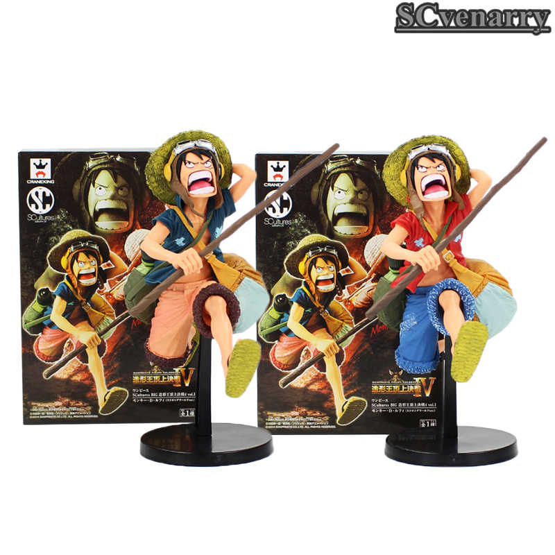 Figura Banpresto Coliseu SCultures Big 4 Vol.1 Comic Anime One Piece Monkey D Luffy Correndo Figura 18 cm