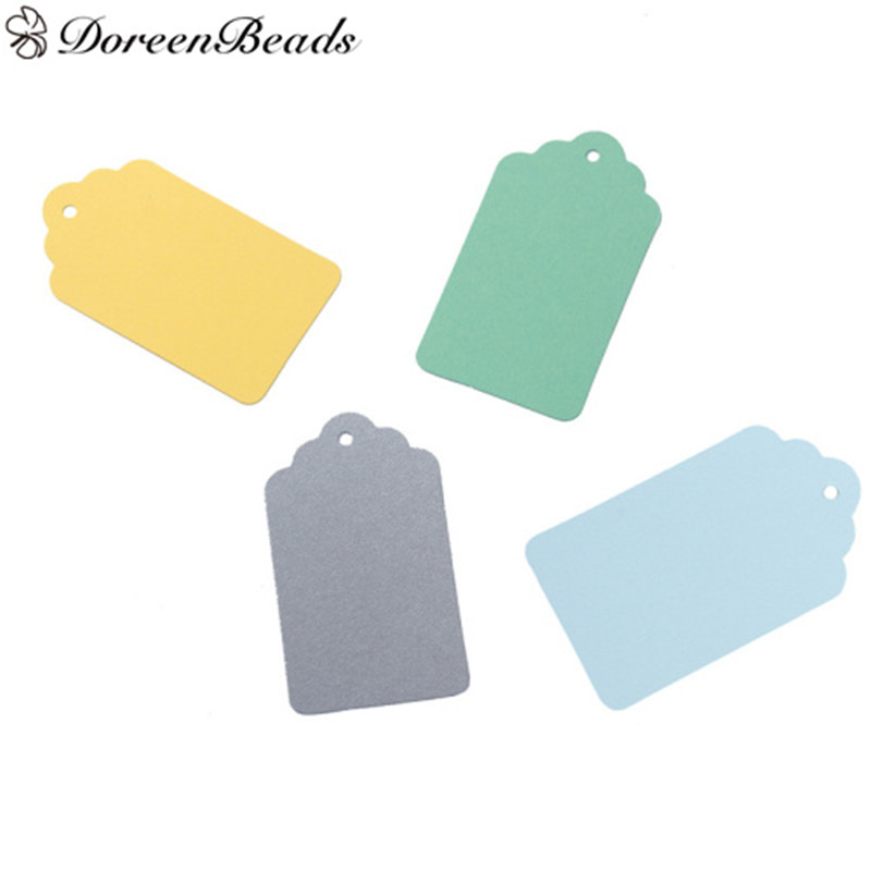 7*4 cm Yellow gray Blue Green Color Handmade Paper Garment Lable Tags For DIY Gifts Crafts Price Tags 10PCs/Set