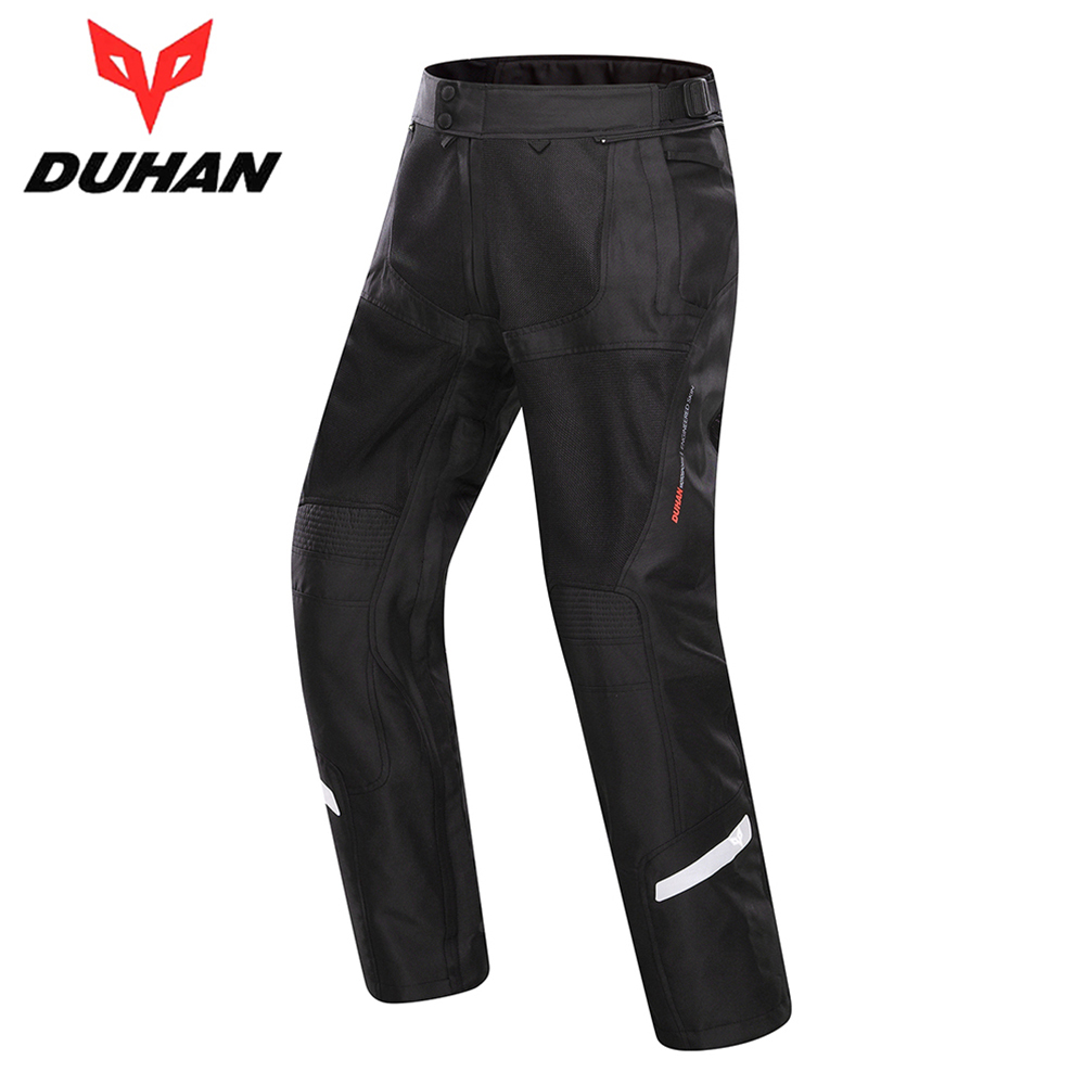 DUHAN Motorcycle Pants Summer Cool Breathable Mesh Motorcycle Racing Pants Clothing Motorbike Touring Street Riding Trousers