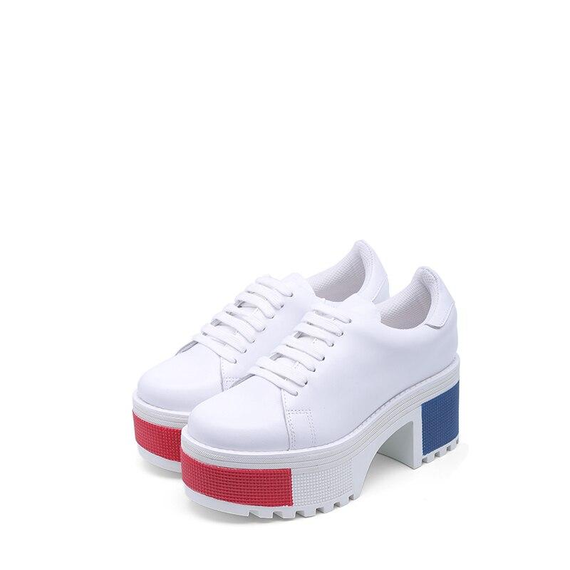 Nuevo Moda De Jeffrey Zapatos Primavera Lado Con Chart See Blanco Campbell Viento Cordones Británico qZE4A