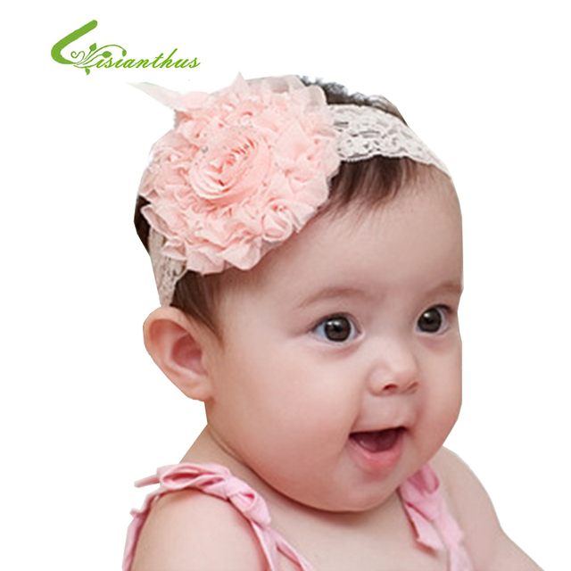 Clearance ! 10pieces/lot Baby Girl's Lace Headband Headwear Girls Topknot Hair Accessories Infant Hair Band Free Shipping TF002