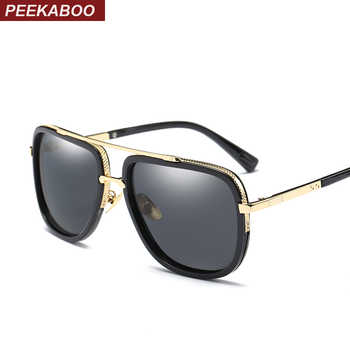 Peekaboo driving polarized sunglasses men with box brand luxury black mens square shades men mirror 2017 - DISCOUNT ITEM  15% OFF All Category